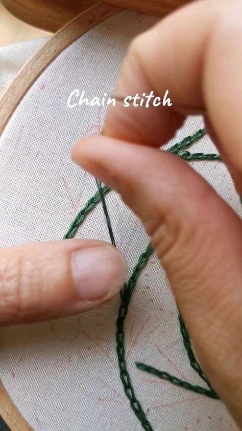 Chain stitch video tutorial. AnichArtHoop designs 🌿