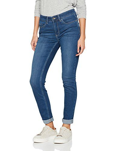 MAC JEANS Damen Slim Jeans Dream Skinny Blau (Mid Blue D569