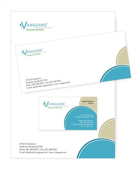 Corporate Identity Design Vanguard Computer Services Kurumsal Kimlik