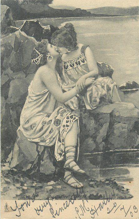 two women kissing 1st printing 1903