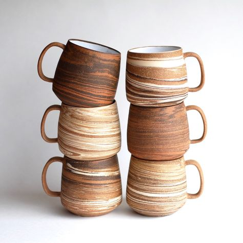 Marbled Clay Mugs Handmade Mugs Handmade Ceramic Mugs Ceramicart & marmorierte lehm-becher handgemachte becher handgemachte keramik-becher ceramicart & & Decoration ceramic pottery; Ceramic Cups, Ceramic Pottery, Ceramic Art, Slab Pottery, Ceramics Pottery Mugs, Pottery Plates, Ceramic Decor, Keramik Design, Mug Design