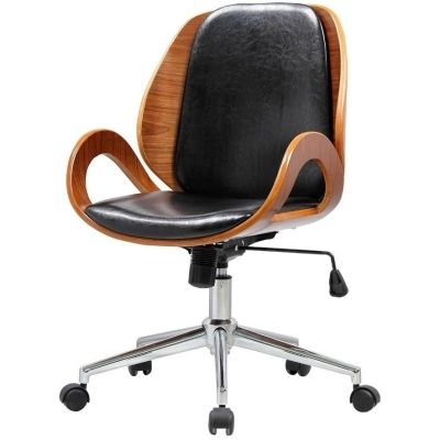 Cleo Office Chair Black Walnut Black Office Chair Chair Furniture