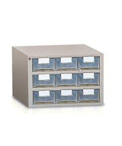 Cassettiere Plastica Per Minuterie.Cassettiera 9 Cassetti Plastica Traslucida Porta Minuteria Mm
