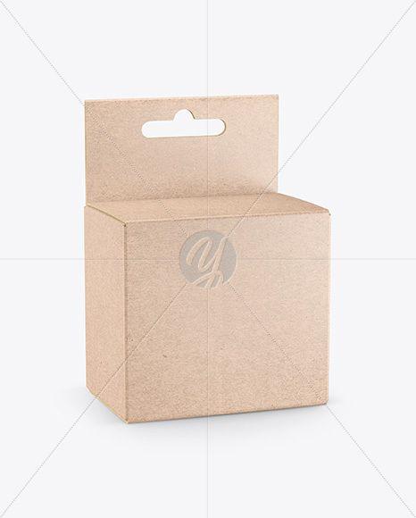 Download Download Kraft Paper Box W Hang Tab Mockup Psd Free Mockup Templates Free Mockup Templates Box Mockup