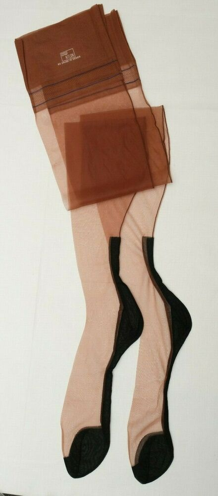Fully Fashioned Black Seamed Stockings