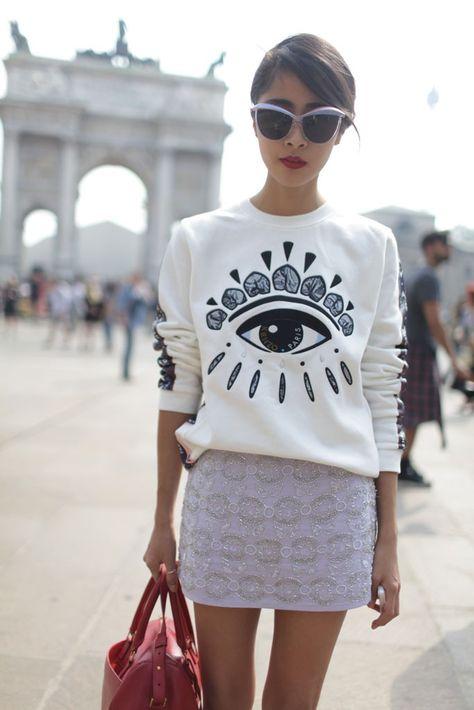 Sweat from Kenzo at Milan Fashion Week #Kenzo #FashionWeek #Style #styleblogger