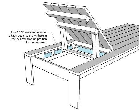 Ana White Build a Outdoor Chaise Lounge Free and Easy DIY