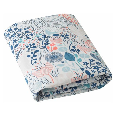 Dwellstudio Crib Sheet Meadow Powder Blue Fitted Crib Sheet