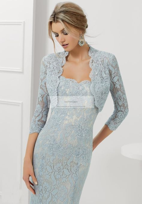 ed1aef506a6 2015 Elegant Silver Mother Of The Bride Dresses With Jacket Lace Evening  Long Gowns For Women