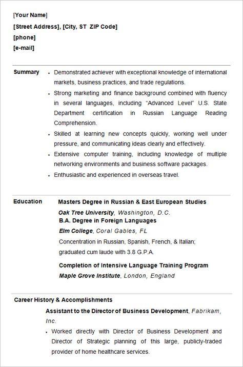 Resume Format Undergraduate 2-Resume Format Sample resume
