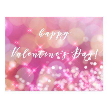 Glamorous Pink Sparkles Valentine S Day Postcard Zazzle Com