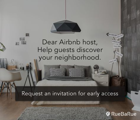 RueBaRue's app for Airbnb is designed for hosts to