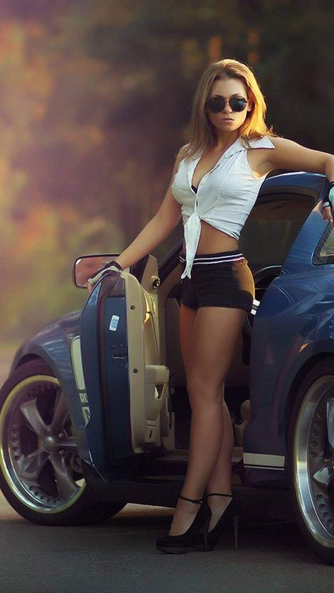 From This Webpage You Can Easily Download Girl And Car Iphone Wallpaper Free Of Cost In This Post W In 2020 Car Iphone Wallpaper Car And Girl Wallpaper Mustang Girl