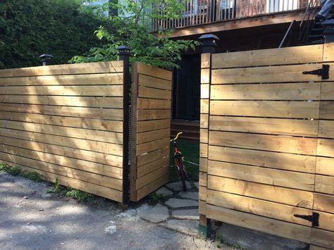 Cloture de jardin composite Océwood® - lames Ecume et Basalte - palissade en pvc jardin