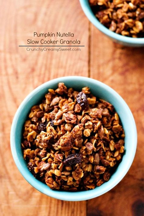 Nutella and Pumpkin Granola baked in a Slow Cooker