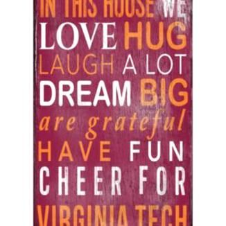 Virginia Tech Hokies In This House Wall Art In 2020 Virginia Tech Virginia Tech Crafts Virginia Tech Hokies