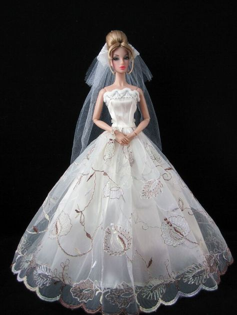 Fashion Royalty Princess Dress//Clothes//Gown+veil For 11.5in.Doll S521