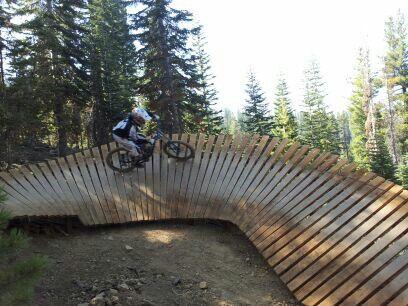 Rolling like a roller coaster on Gypsy trail at Northstar Ski Resort.