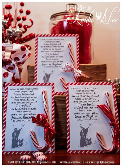 Legend of the Candy Cane Card for Witnessing at Christmas | Etsy