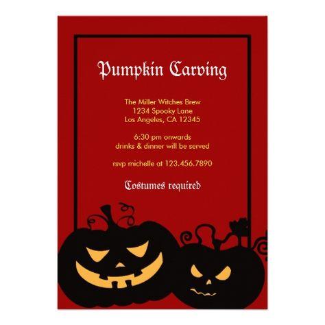 Personalised Adult Spooky Pumpkin Halloween Party Invites inc envelopes HP6