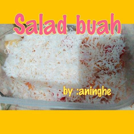 Resep Salad Buah Special Oleh Aninghe Dongmin Resep Makanan Enak Makanan Resep Salad