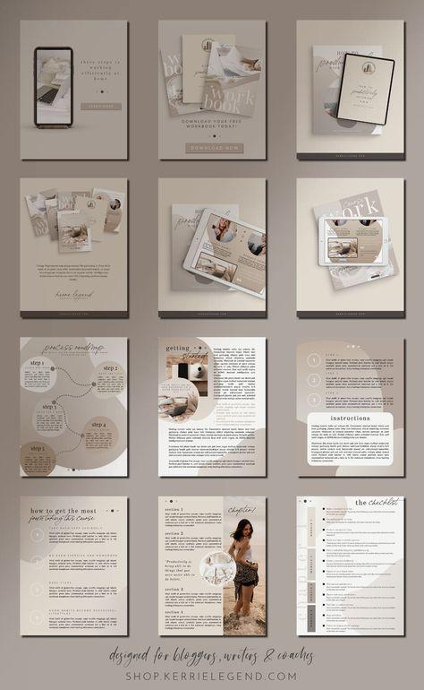 Course Creator eBook Workbook Checklist Challenge Canva Template - Neutral Minimalist - Neutral Minimalist Collection