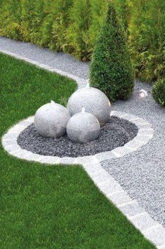 Wasserspiel Kugeln Pinterest Garten Garten Gartengestaltungideen P Wasserspiel Kugeln P Patio Garden Design Garden Design Gravel Garden