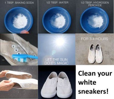 How To Clean White Converse With Baking