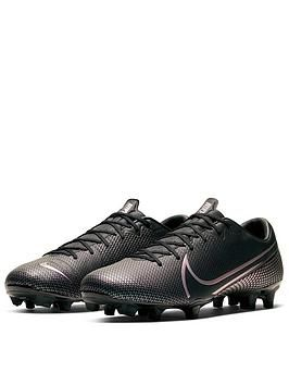 Black Nike Mercurial Victory V Junior Studded FG Firm Ground Football Boots