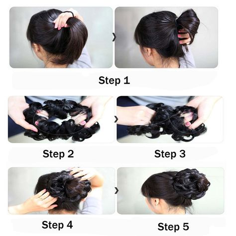 Tousled Updo Messy Bun Hair Piece,Hair Extension Ponytail With Elastic Rubber Band  Hairpiece,Hair Extensions Ponytail Hairpiece for Women