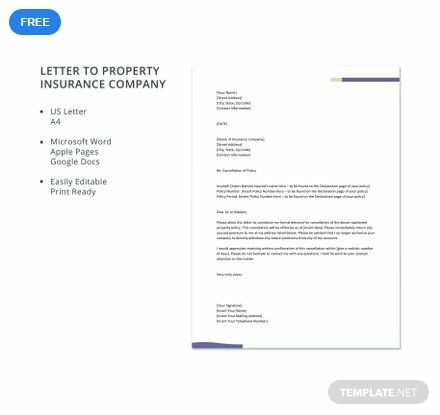 Free Letter To Property Insurance Company Reference Letter