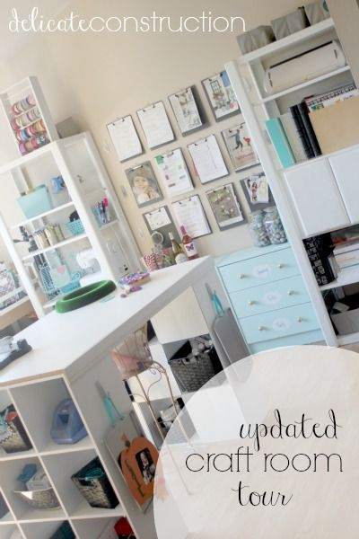 Updated Craft Room Tour - Delicate Construction