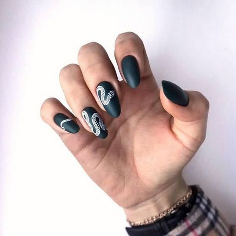 63 Best Gorgeous Stunning Green Matte Nails Design For Prom And Wedding - Page 6 of 63 - Diaror Diary