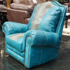 Add a splash of color to your living space with this bright teal leather recliner. Southwest charm generously cushioned for undisputed comfort witu2026 & Add a splash of color to your living space with this bright teal ... islam-shia.org