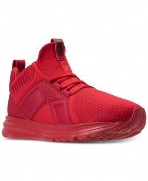 Puma Men's Enzo Wide Casual Sneakers from Finish Line Red