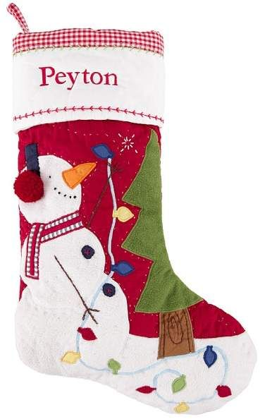 Seasons Designs 20 inch Snowman Parent and Child Natural Brown Burlap Fabric Christmas Stocking