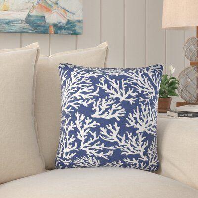Highland Dunes Wendover Indoor Outdoor Throw Pillow Colour Blue Throw Pillows Coral Throw Pillows Outdoor Pillow Covers