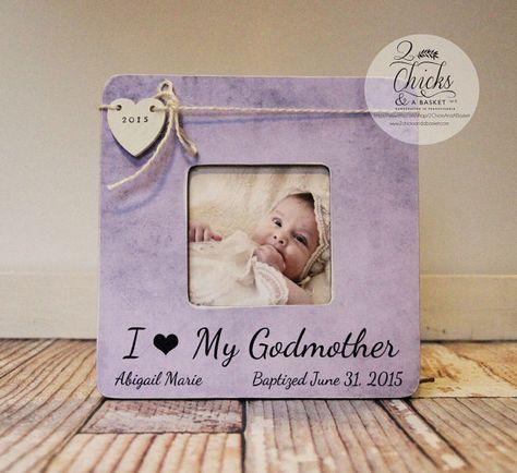 Godmother Picture Frame Baptism Picture Frame I Love My Godmother