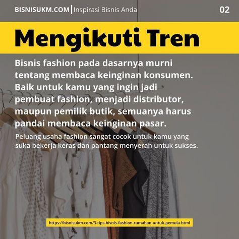 Tips Bisnis Fashion Rumahan Untuk Pemula Di 2020 Pengetahuan Tips Belajar