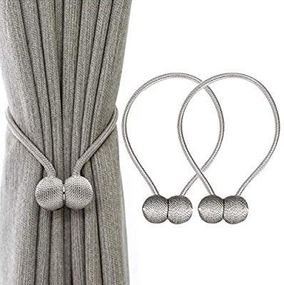 Ihclink 2 Pieces Magnetic Curtain Tiebacks Curtain Clips Rope
