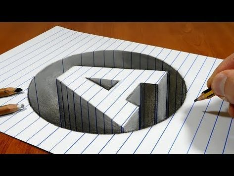 3d Trick Art On Paper Hole Letter A Youtube 3d Art Drawing Art Tips Typography Artwork