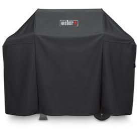 Weber 51 In X 42 In Black Polyester Gas Grill Cover Fits Size 30 To 50 In Fits Models Spirit 300 207139 Weber Grill Cover Gas Grill Covers 3 Burner Gas Grill