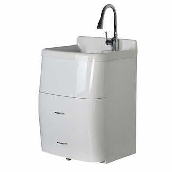 Deluxe Utility Sink And Storage Cabinet, Westinghouse Laundry Sink With Cabinet Costco