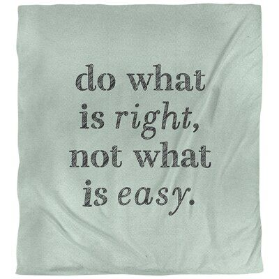 East Urban Home Do What Is Right Quote Single Duvet Cover Size Queen Duvet Cover Color Green Black Single Duvet Cover Reversible Duvet Covers Single Duvet