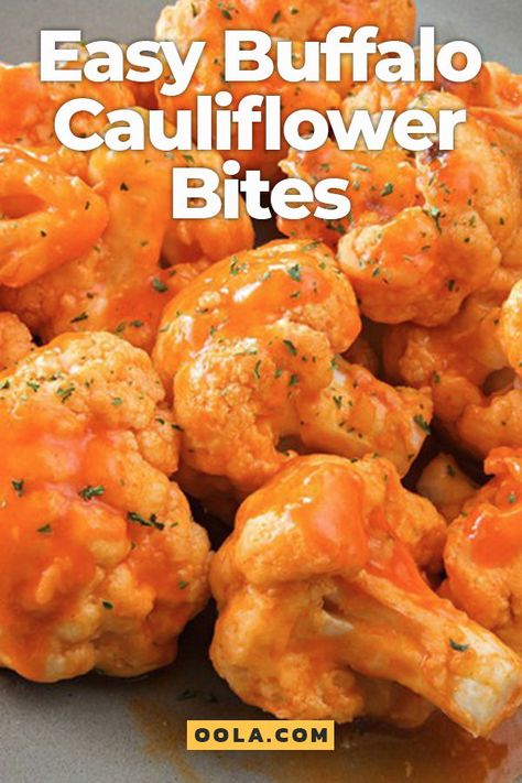Easy Buffalo Cauliflower Bites - - Easy Buffalo Cauliflower Bites Snacks Take your traditional cauliflower up a notch or two; whip up some buffalo cauliflower for the family! Veggie Recipes, Diet Recipes, Cooking Recipes, Healthy Recipes, Healthy Cauliflower Recipes, Cooking Icon, Roasted Vegetable Recipes, Cooking Pasta, Veggie Food