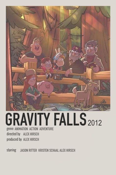 gravity falls minimalistic/alternative polaroid movie poster