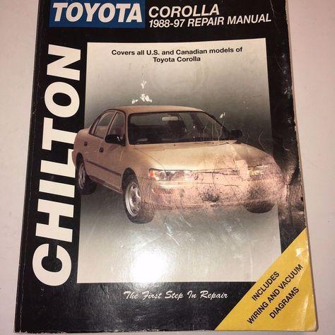 Chilton Toyota Corolla 1988-97 Repair Manual 68302 Shop