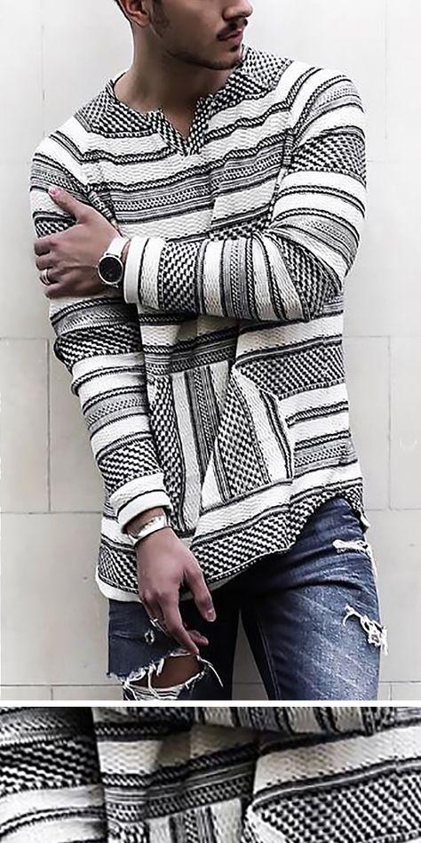 Casual V Neck Long Sleeve Stripe T-Shirt
