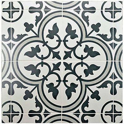 Merola Tile Arte Grey 9 3 4 Inch X