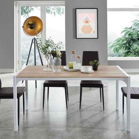 Texas Table A Manger De 6 A 8 Personnes Style Industriel Decor
